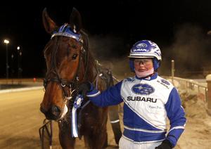 Kajsa Frick vid ett tidigare tillfälle, med hästen Evasion Boko.Bild: Micke Gustafsson