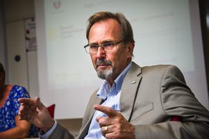 Industrigruppens ordförande Håkan Åström. Foto: Leif Wikberg.