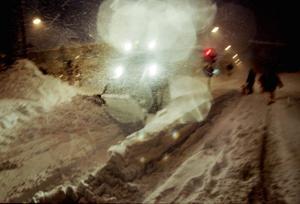 Tapper snöröjare på Valbogatan 1998.
