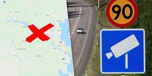 Kamerorna ska sättas upp på riksväg 70 mellan Mora och Oxberg. Bilden är ett montage. Foto: Google Maps/TT