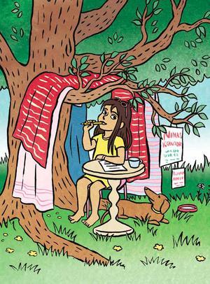 Loka Kanarp har illustrerat Emi Gunérs berättelser om Nina.