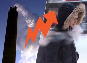 Foto: Montage. Elpriserna är generellt sett höga på grund av kylan.