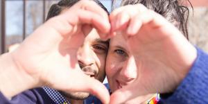 Mohammed Rabia och Carina Fredriksson ligger bakom Fagerstas första pridefestival.
