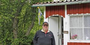 Niklas Wiktorsson är vice ordförande i föreningen, och äger sedan några år en mysig röd och vit kolonistuga.