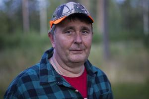 Christer Hed fick se björnen på bara tio meter, men allt gick så fort att han knappt hann få upp bössan.
