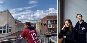 Carl-Petter Montell till vänster är ny regissör för serien Eagles, foto: Stefan H. Lindén. Två av skådespelarna, foto: Fredrik Persson/ TT
