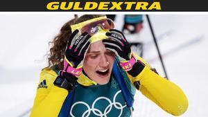 Hanna Öberg tog OS-guld efter lång och nervös väntan. Foto: Jon Olav Nesvold (Bildbyrån).