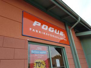 Just nu har Pogue utförsäljning på hela sitt sortiment. Anledningen är att företaget läggs ner sista december.