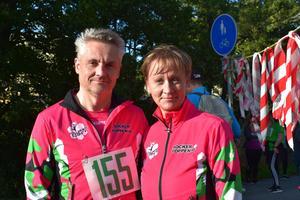 Margareta Buhre och Magnus Jansson gick promenadloppet.