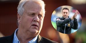 Bo Ottosson, ordförande i Östersunds FK, menar att lagets tränare Ian Burchnall och övrig ledarstab sitter säkert, trots de sportsliga motgångarna. Bilden är ett montage.