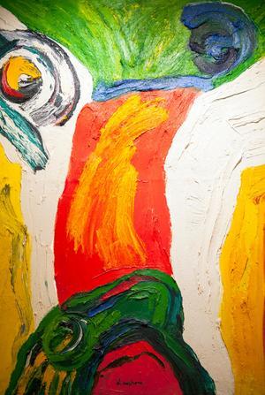 Skapelsen – Lindström blev känd för abstrakt måleri och grovt markerade penseldrag.