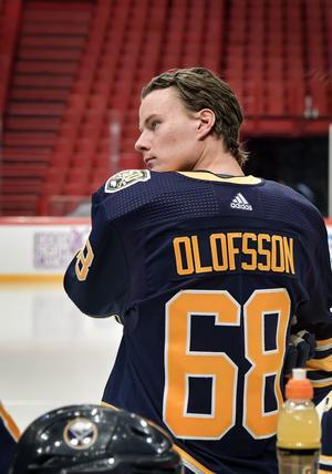 Det blev både ett mål och en assist för Victor Olofsson i Globen. Bild: Anders Wiklund/TT