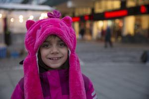 Angelina Eriksson, 7 år, lågstadieelev, Centrum: