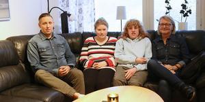 Patrik Östlund, personal, eleverna Matilda och Wilma och Anna-Carin Lindqvist, personal.