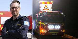 Peter Bäcke, stf räddningschef vid Brandkåren Norra Dalarna, uppmanar trafikanter att ta det lugnt efter lördagens svåra olyckor.