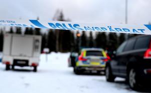 Ett misstänkt mord sker i ett bostadsområde i Ånge.