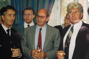 Sven-Åke Hjälmroth, Ulf Adelsohn och Tommy Söderblom. Foto: Max Möllerfält