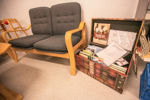 I butiken finns även en liten biblioteks- och läshörna.