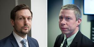 Advokat Viktor Banke och åklagare Jens Göransson. Arkivbilder: TT och ST