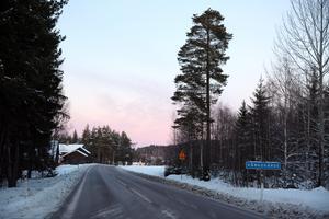 Här i Vångsgärde på E 45 i södra Orsa kommer en av två fartkameror att placeras under året.