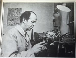 ÖA 15 januari 1969. I går förmiddag undervisade Kjell Gidlöf i musik, på eftermiddagen arbetade han som juvelerare hos Greens.