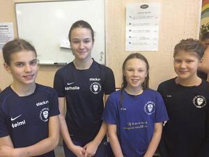 GSS vann tjejernas lagkapp. Laget: Helmi Swanson, Natalie Stigenberg, Lisa Löf och Frida Florén.