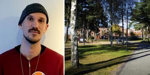 Konstnären Ruben Wätte är en av personerna som är på plats på torget på lördag.