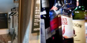 Inbrottstjuvarna valde ut den finaste spriten vid inbrottet vid restaurangen Akropolis i Ludvika.