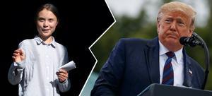 I åsiktskorridoren förutsätts att den som är för Greta Thunberg per automatik står mot Donald Trump. Och tvärtom. Foto: TT