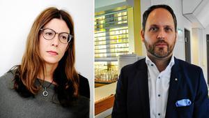 Bodil Hansson (S) och Jörgen Berglund (M) debatterar på på Sidsjö hotell och konferens.