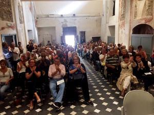Santa Brigida kyrka i San Remo var fullsatt när kören uppträdde. Foto: Privat