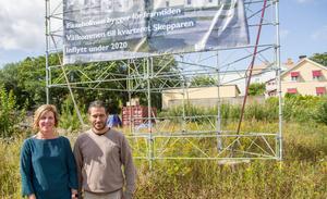 Linda Larsson, tillförordnad vd, och Niklas Haglund, teknisk chef, ser fram emot byggstarten av kvarteret Skepparen.