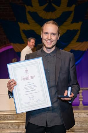 Jonas Berglund fick utmärkelsen som Årets gesäll 2018. Bild: Jenny Thörnberg