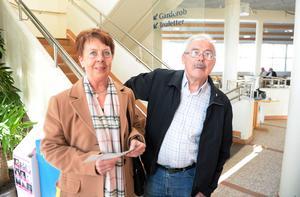 Syskonen Birgitta Svensson och Kurt Martinsson från Matfors.