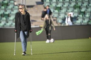 Paulina Byström efter SDFF:s möte med AIK i säsongspremiären på NP3 Arena i våras.