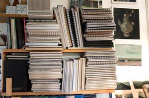 Skissblocken fungerar som dagböcker.