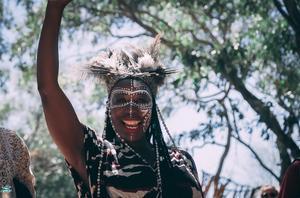 En av deltagarna på The Okavango Delta Music Festival. Foto: Filip Grgin