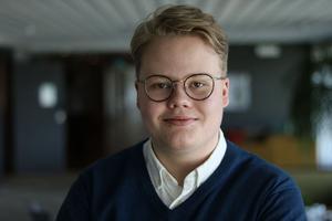 Hugo Abrahamsson, distriktsordförande Muf Dalarna.