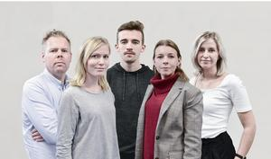 Några av reportrarna bakom nyhetspodden: Peter Gustafsson, Hanna Sjöberg, Erik Boström, Sofia Weström och Alexandra Locking.