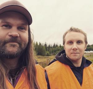 Heavy och Tony Hedström på motorstadion i Borlänge.