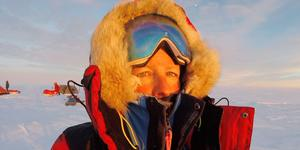 Frida Albertsson och hennes pojkvän var de enda svenskarna som deltog i expeditionen över Grönland – och tog sig över 60 mil av inlandsis.