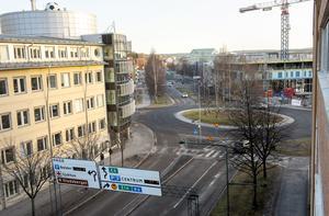 Rondellen vid Stordalens hotellbygge.
