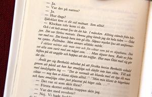 """En sida ur boken """"Min skuld""""."""