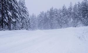 Oavsett väder så måste hemtjänstpersonalen ut och köra bil.