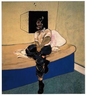 "Osåld. Francis Bacons ""Study for self-portrait"" ratad på Christie's.Foto: Christie's/AP/Scanpix"
