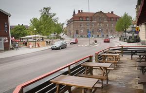 Runt Möljen finns det många trottoarserveringar.