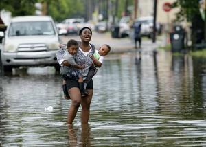 Översvämningar i New Orleans. Foto: AP