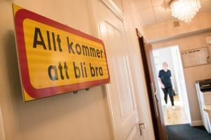 – Den skylten har vi peppat oss mycket med under den här tiden, berättar Väddö vårds vd Marie Hellqvist.