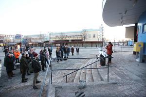Vendela Tedestam, en av talarna under Fridays for Future i Borlänge i mars: