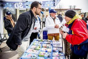Många hade frågor till Jimmie Åkesson inför det kommande EU-valet.